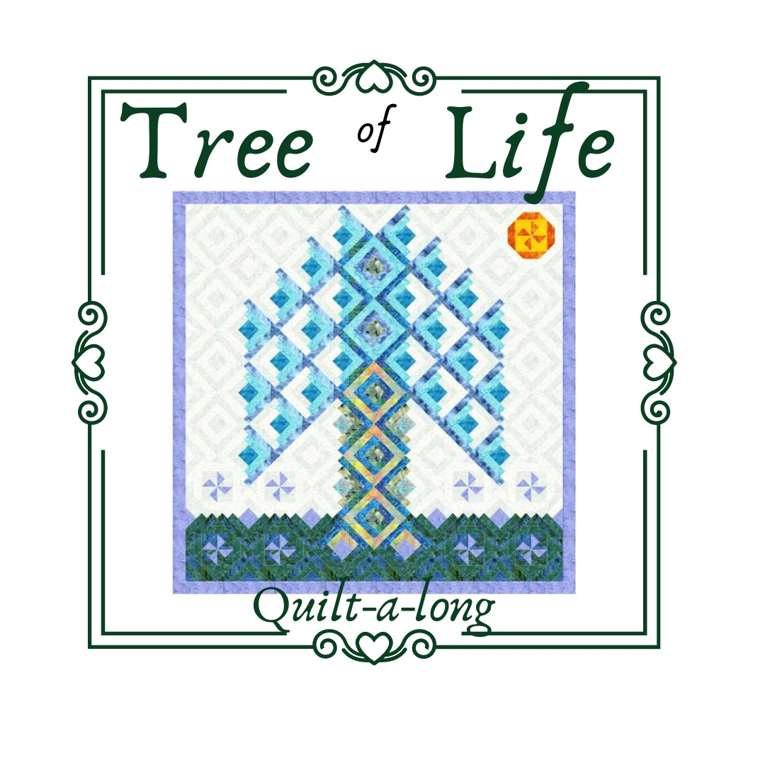 Log cabin tree of life quilt along